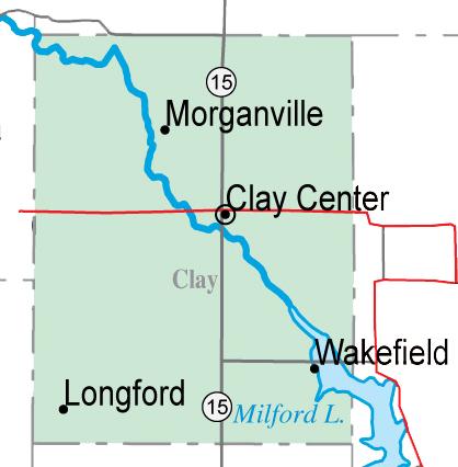 Milford Lake Kansas Map.Birding In Clay County Kansas